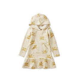Tea Collection Metallic Hooded Sweat Dress
