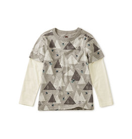 Tea Collection Himalyan Ski Printed Layered Sleeve Tee