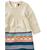 Tea Collection Fox Fairisle Baby Sweat Dress