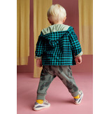 Tea Collection Bold Blue Plaid Zip Baby Hoodie