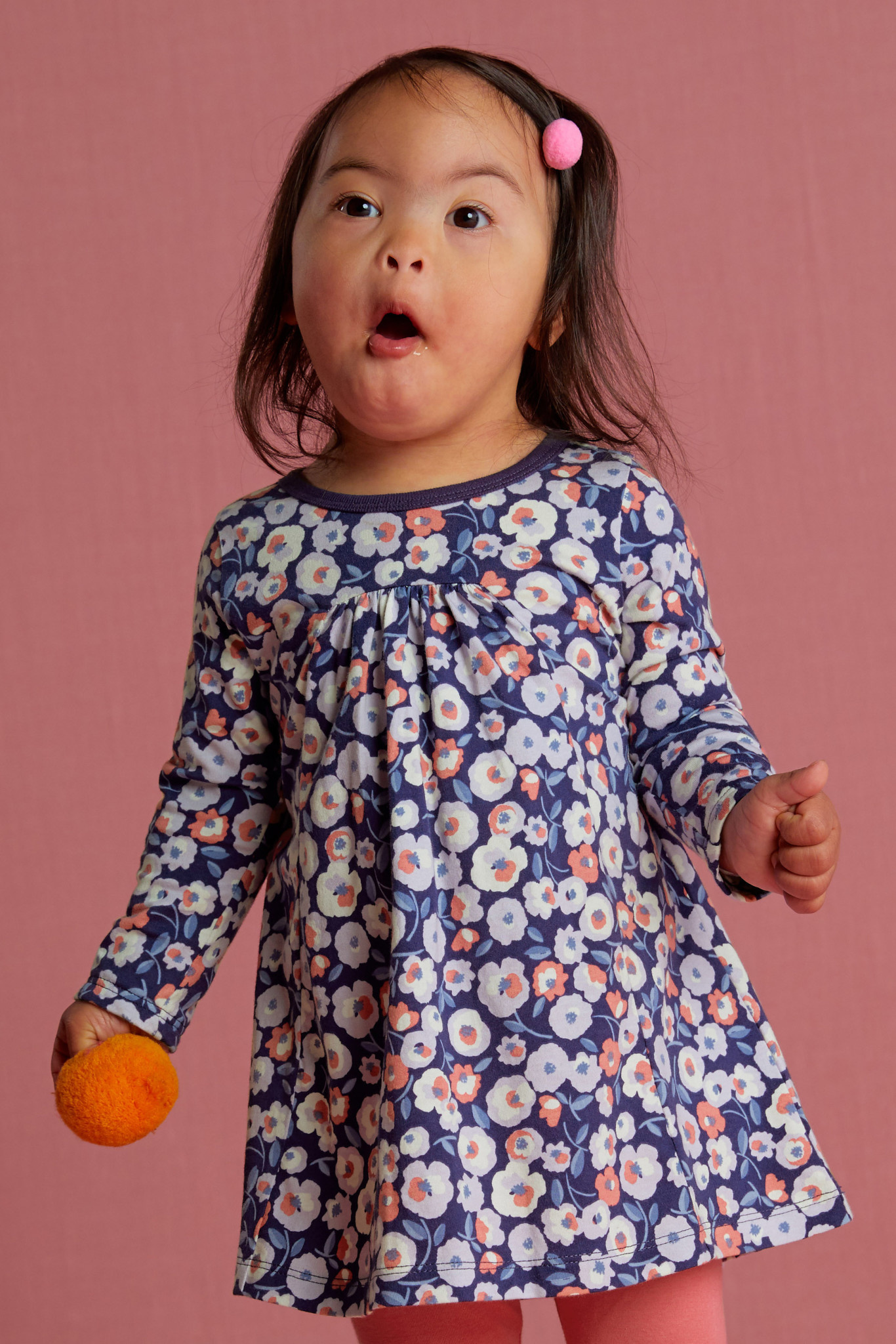 Tea Collection Marigold Flowers Pleated Baby Dress