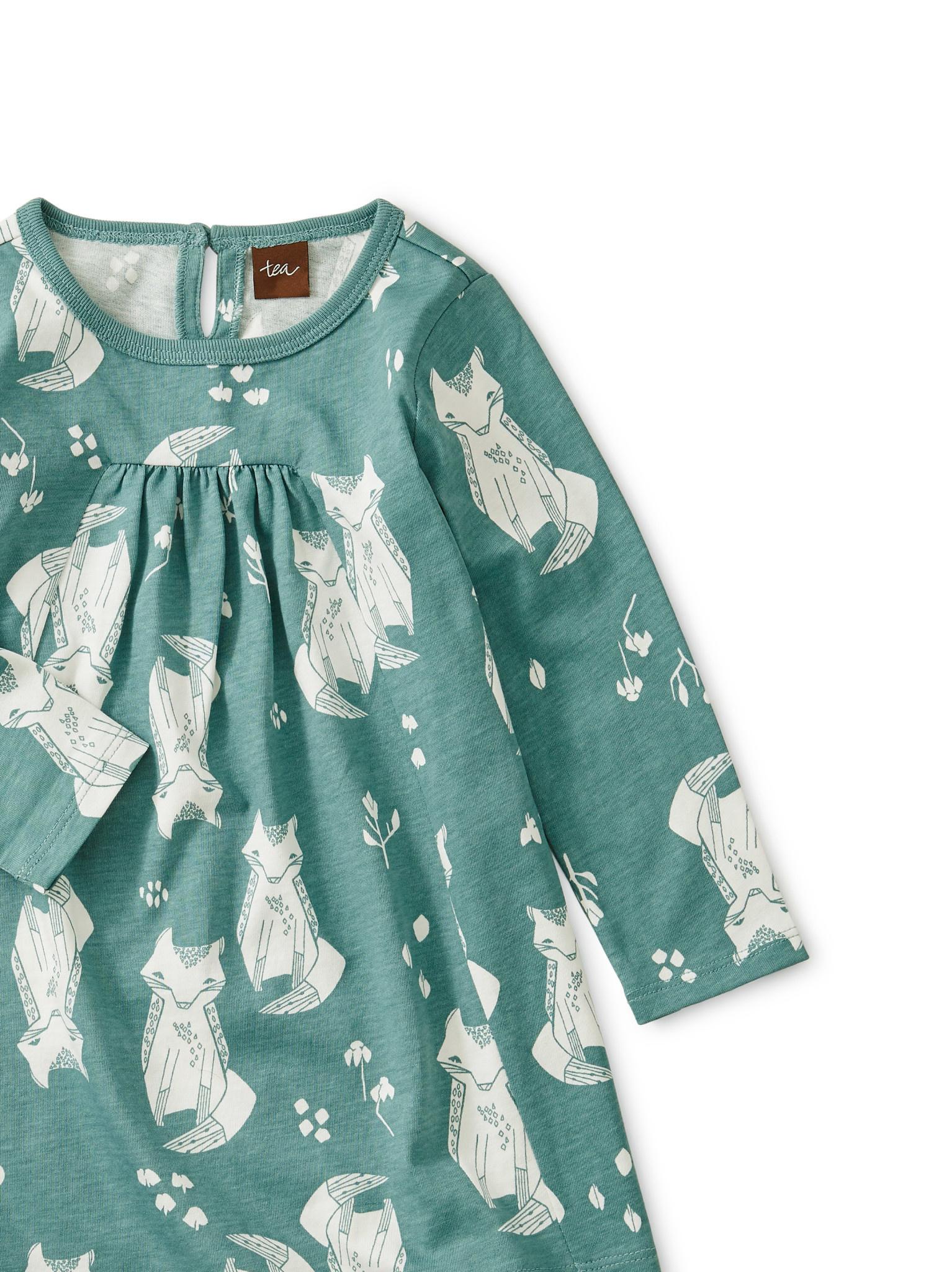 Tea Collection Sand Fox Pleated Baby Dress