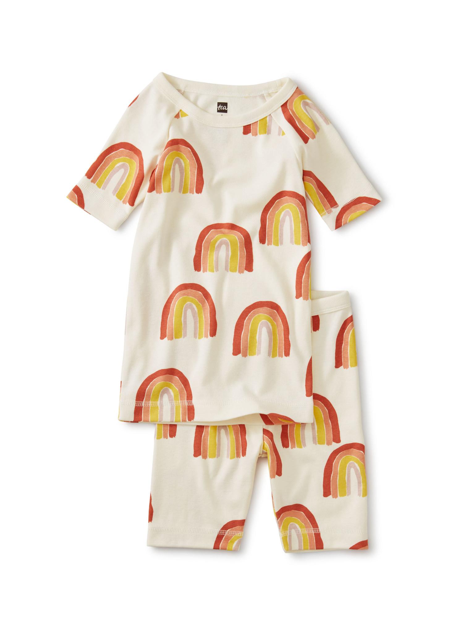 Tea Collection Rainbow Shortie Pajamas