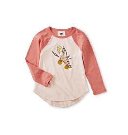 Tea Collection Metallic Hermes Raglan Tee