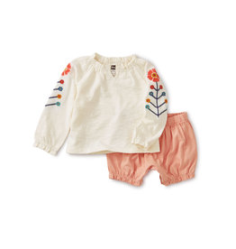 Tea Collection Embroidered Baby Set
