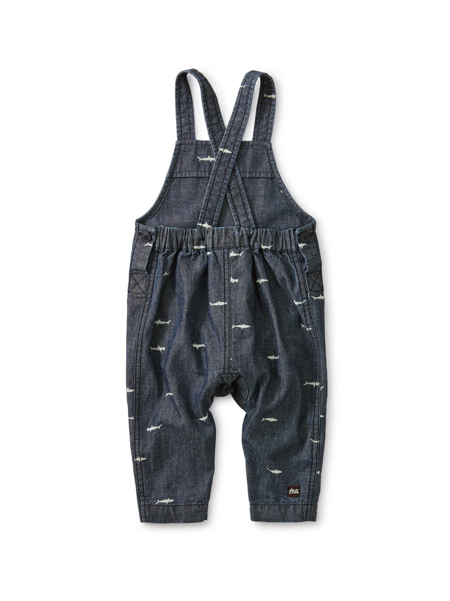 Tea Collection Chambray Crossback Overall