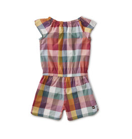 Tea Collection Family Check Flutter Romper
