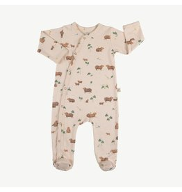 Red Caribou Capybara Footed Jumpsuit