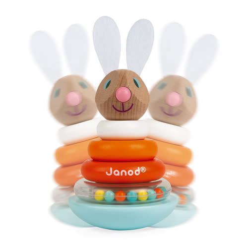 JuraToys (Janod) Stackable Roly-Poly Rabbit