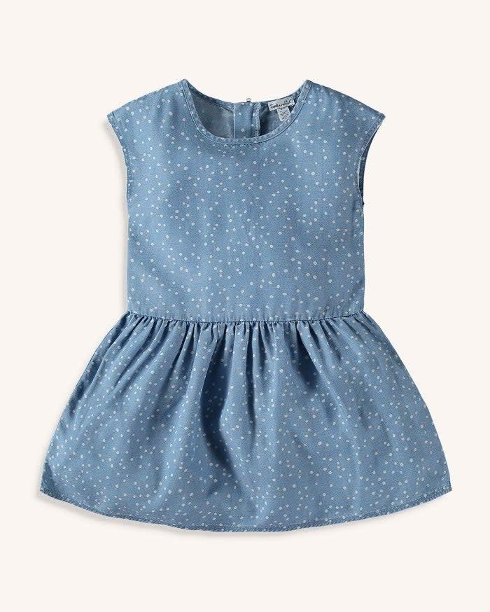 Splendid Chambray Polka Dot Dress