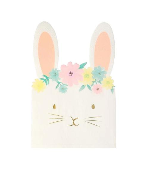Meri Meri Floral Bunny Napkins