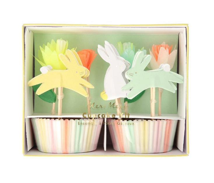 Meri Meri Floral Bunny Cupcake Kit