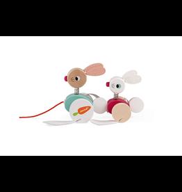 Juratoys Rabbits Pull Toy