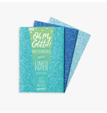 Ooly Oh My Glitter! Notebooks  - Blue