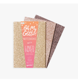 Ooly Oh My Glitter Notebooks - Gold