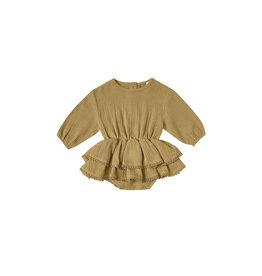 Quincy Mae Rosie Romper - Ocre