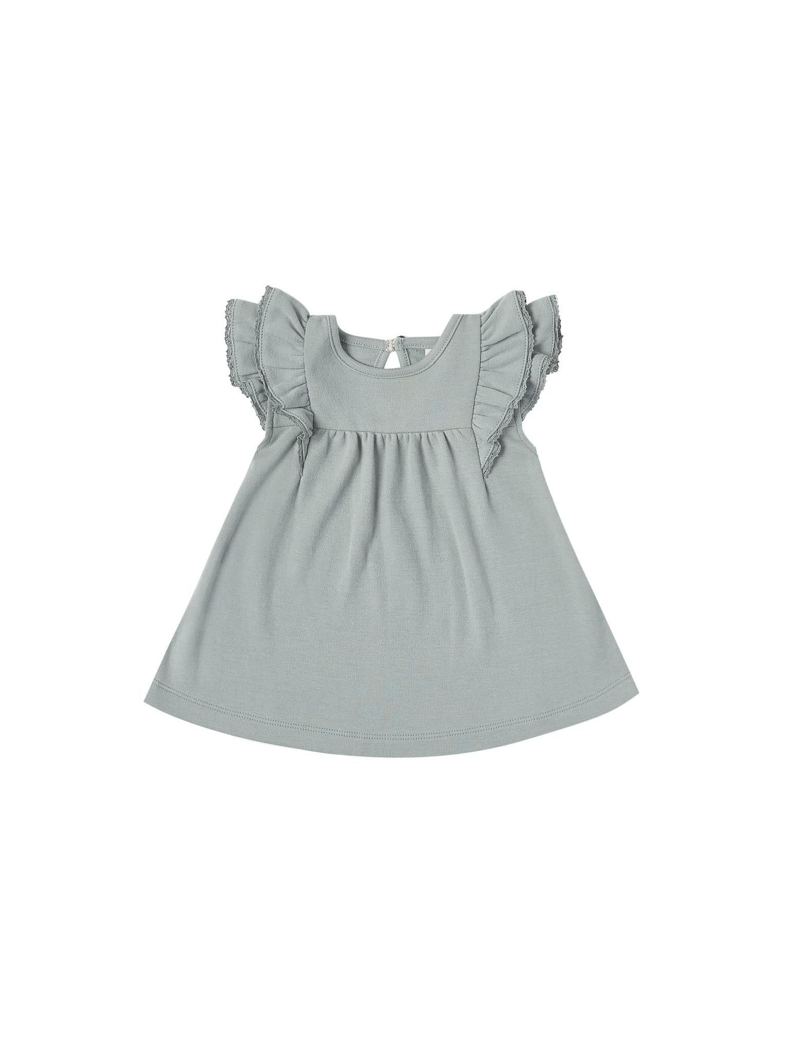 Quincy Mae Flutter Dress - Ocean