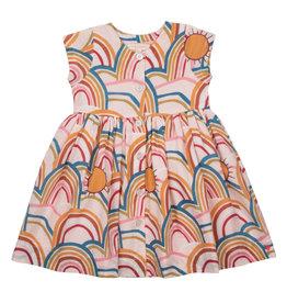 Pink Chicken Winnie Dress - Rainbows