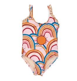 Pink Chicken Claire Swim Suit - Rainbows