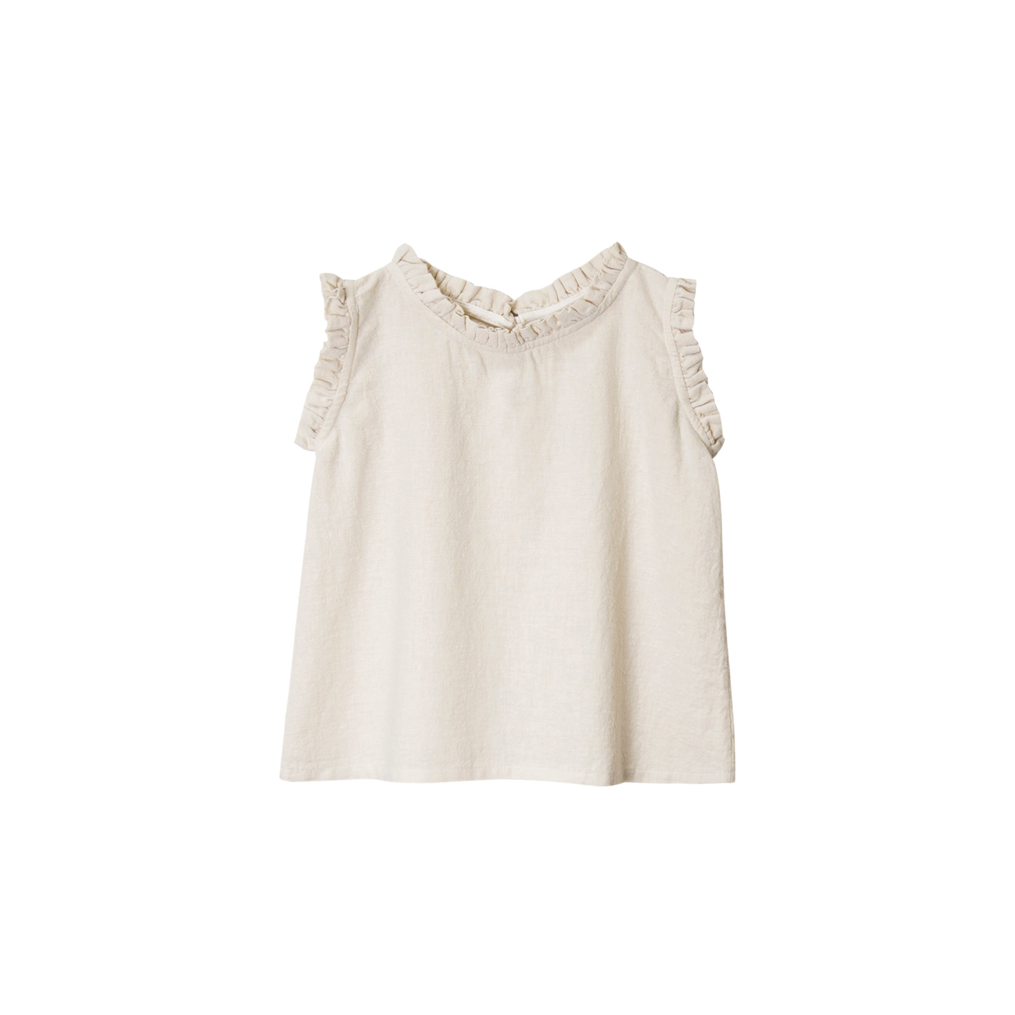 Go Gently Nation Ruffle Tank - Natural