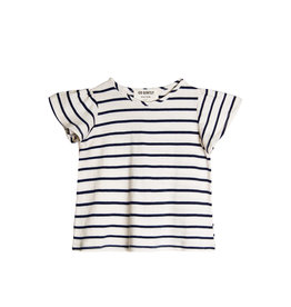 Go Gently Nation Flutter Tee - Navy Stripe