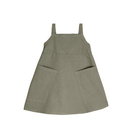 Go Gently Nation Apron Dress - Thyme