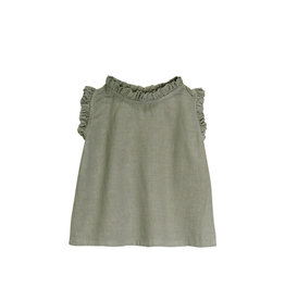 Go Gently Nation Ruffle Tank -Thyme