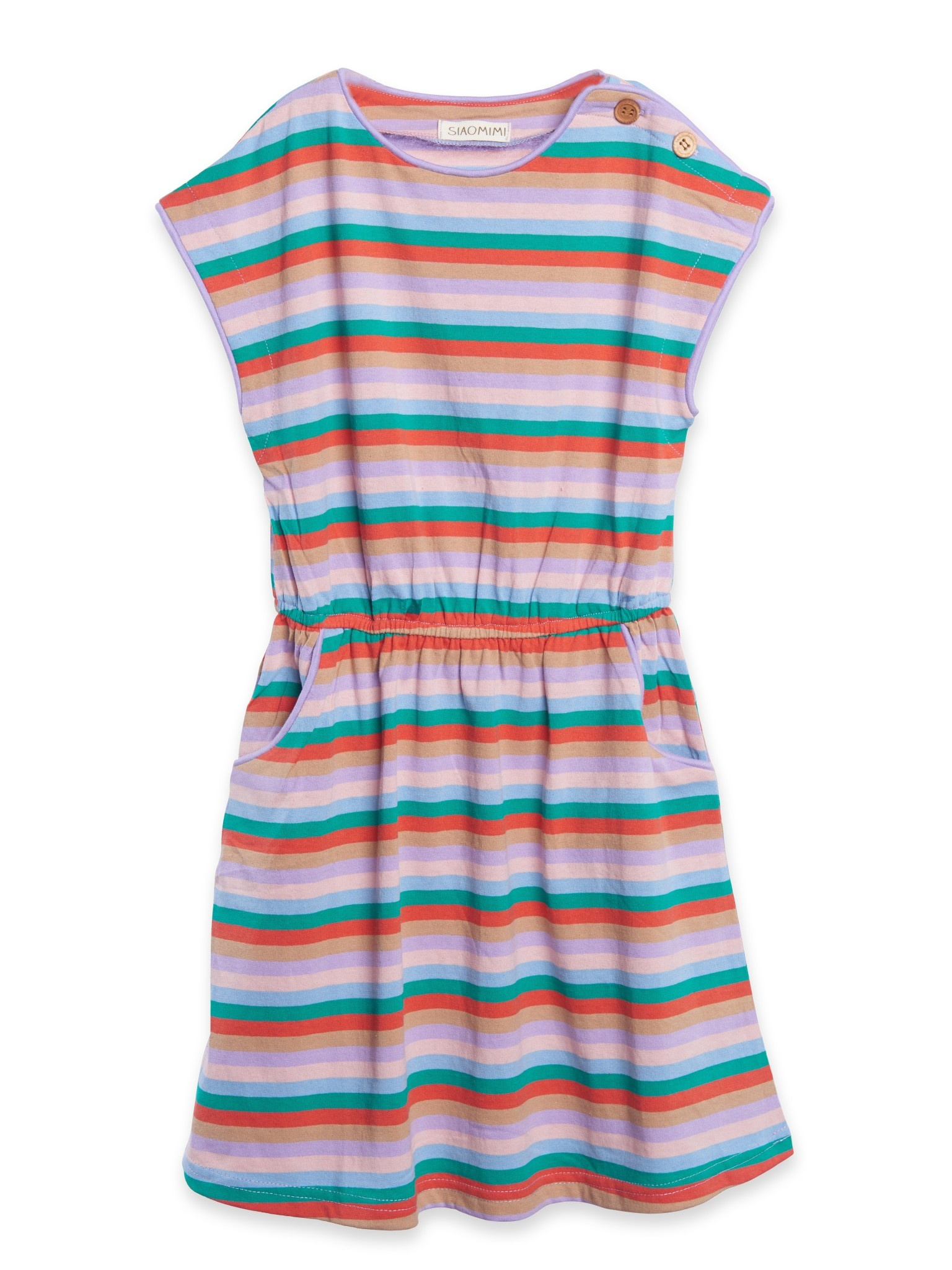 Siaomimi Maddie Dress - Rainbow Stripe