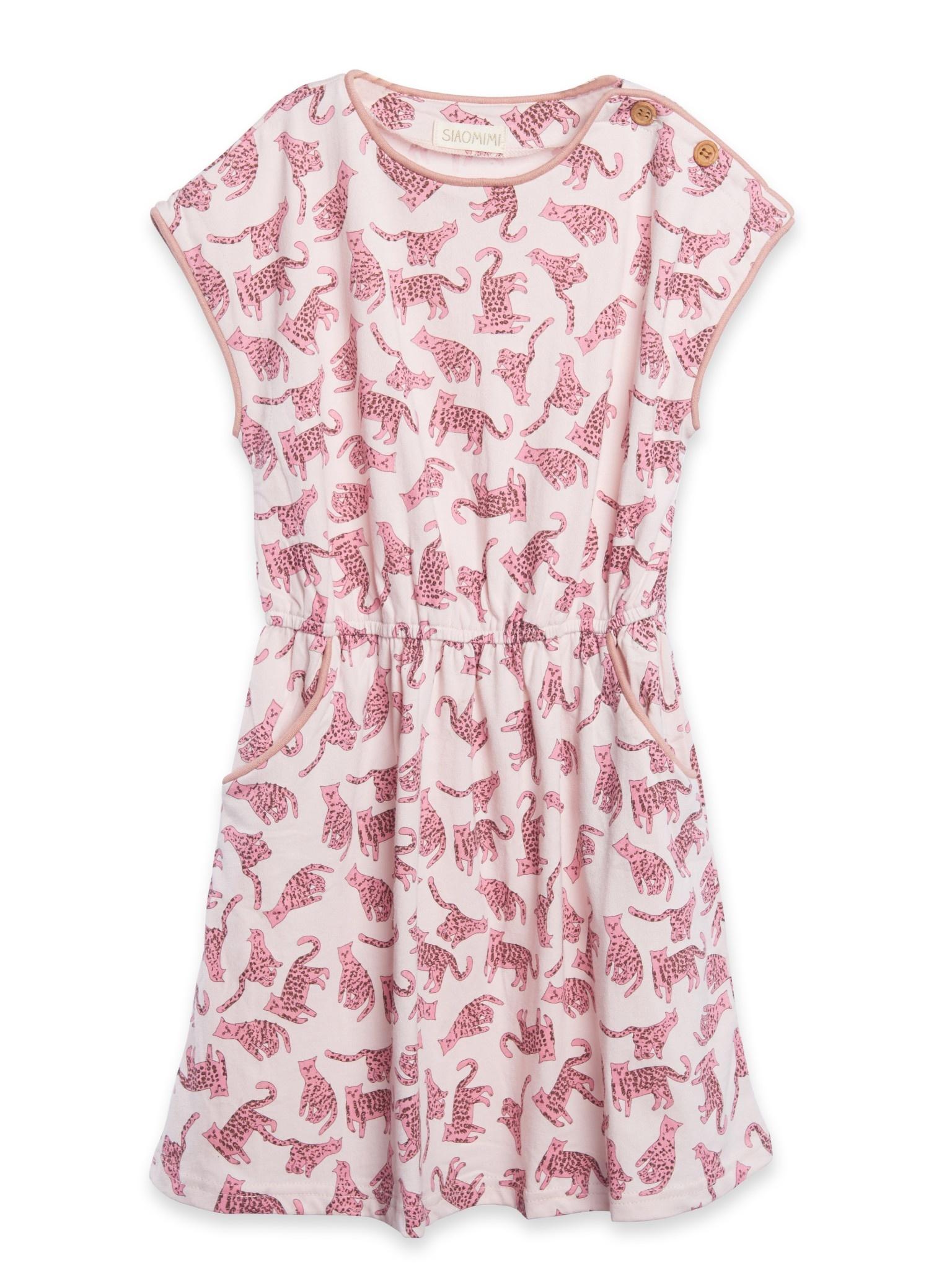 Siaomimi Maddie Dress - Pink Leopard