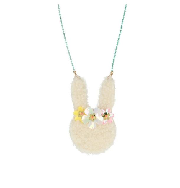 Meri Meri Floral Bunny Necklace