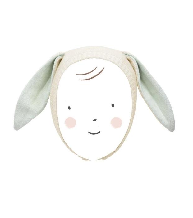 Meri Meri Bunny Baby Bonnet - Mint