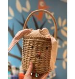 Meri Meri Gingham Bunny Straw Bag