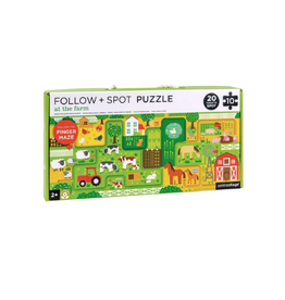 Wild & Wolf At The Farm Follow & Spot Puzzle