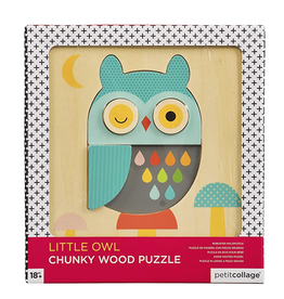 Wild & Wolf Owl Chunky Wooden Tray Puzzle