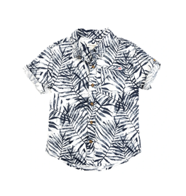 Appaman Navy Palm Shirt