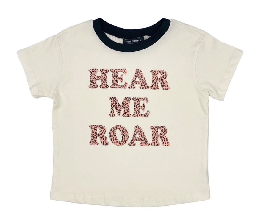 Tiny Whales Hear Me Roar Tee - Kids