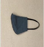 Cookie & The Dude Face Mask - Navy Grid