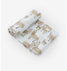 Little Unicorn Swaddle Blanket - Llama Llama