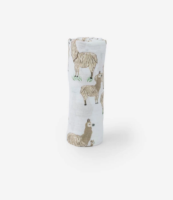 Little Unicorn Swaddle Blanket - Llama Llama