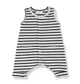One More In The Family Monaco Romper - Navy