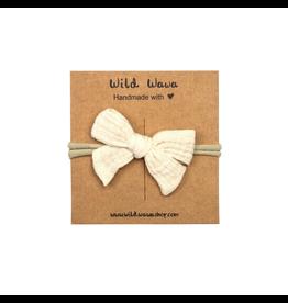Wild & Wawa Bow Headband - Natural