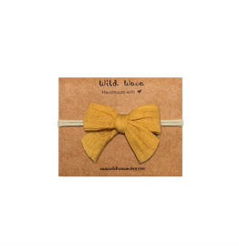 Wild & Wawa Bow Headband - Honey
