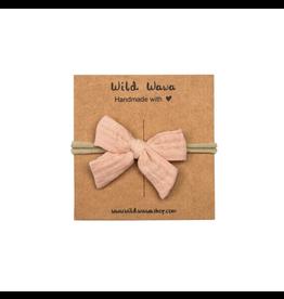 Wild & Wawa Bow Headband - Pink