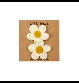Wild & Wawa Daisy Clip Set - Natural