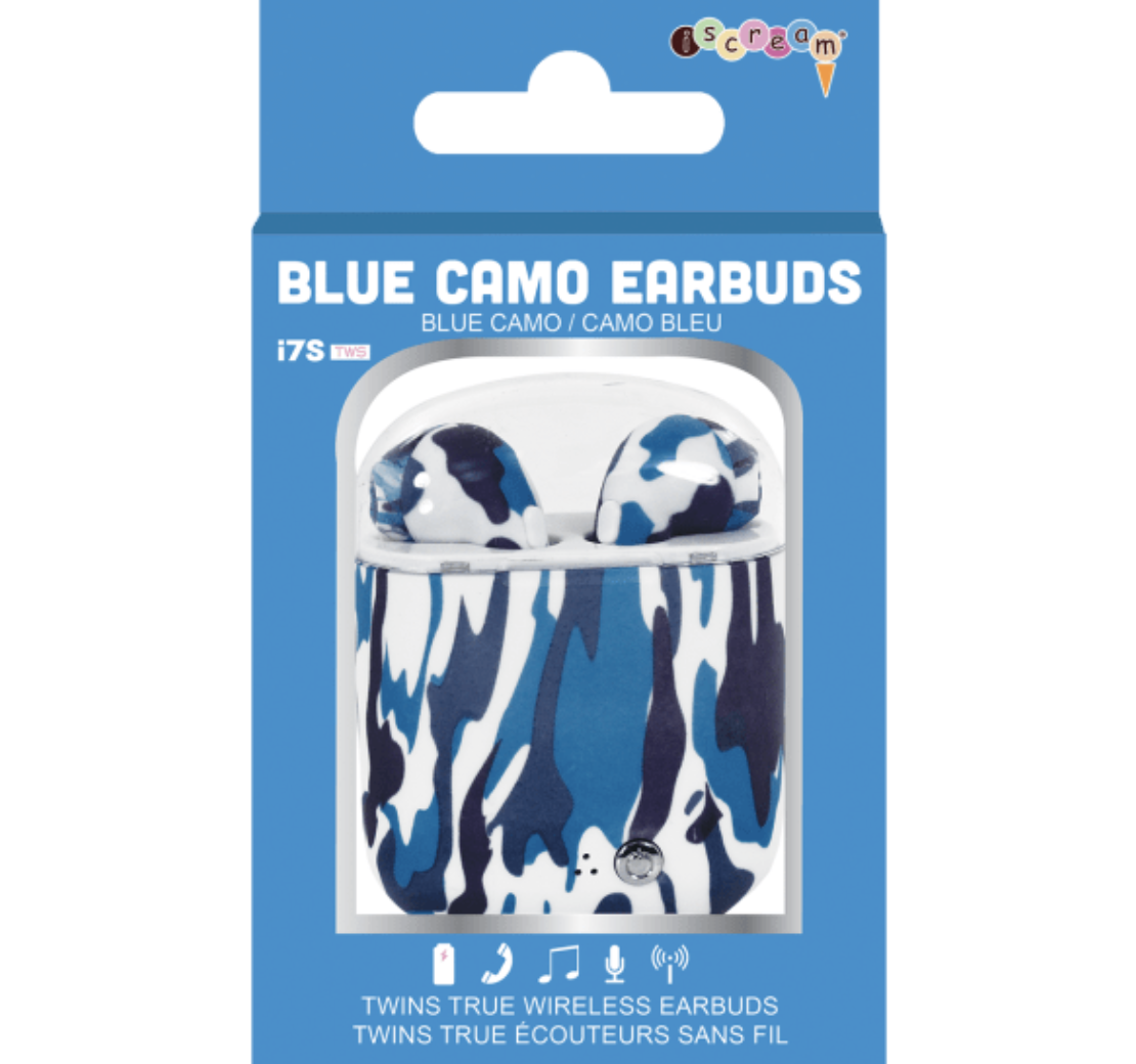 iScream Ear Buds - Blue Camo