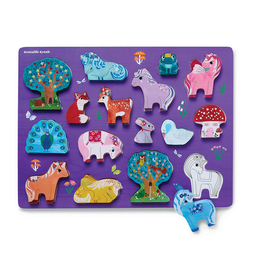 Crocodile Creek Wood Puzzle - Unicorn Garden