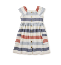 Tea Collection Stripe Button Front Dress