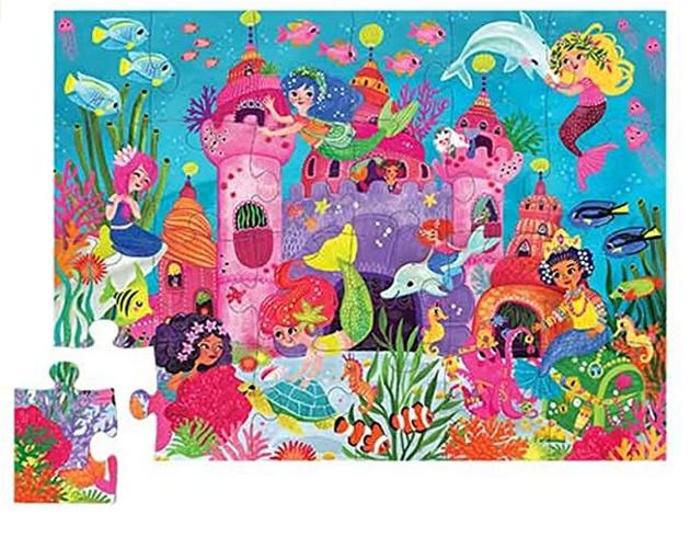 Crocodile Creek Mermaid Palace 24 Piece Puzzle