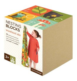 Petit Collage Nesting Blocks - Woodlands