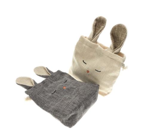 Fiddlesticks Linen Bunny Purse
